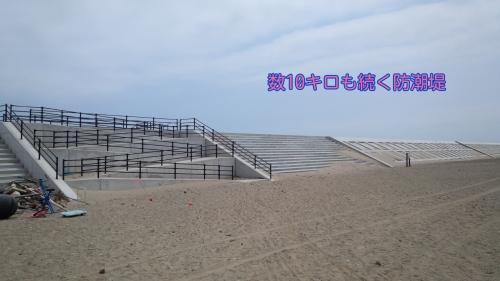 荒浜の防潮堤(平成28年5月14日)