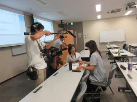 BCAO准主任継続研修 NHKから取材の写真