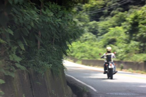 山道とバイク