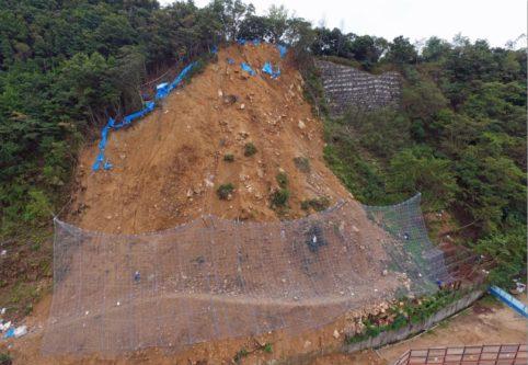 高取山 がけ崩れ(ドローン)